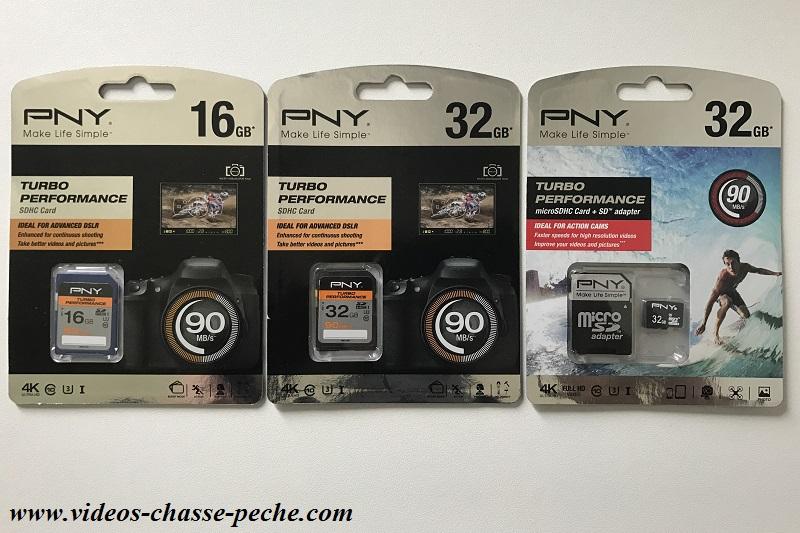 carte PNY SDHC et Micro SD