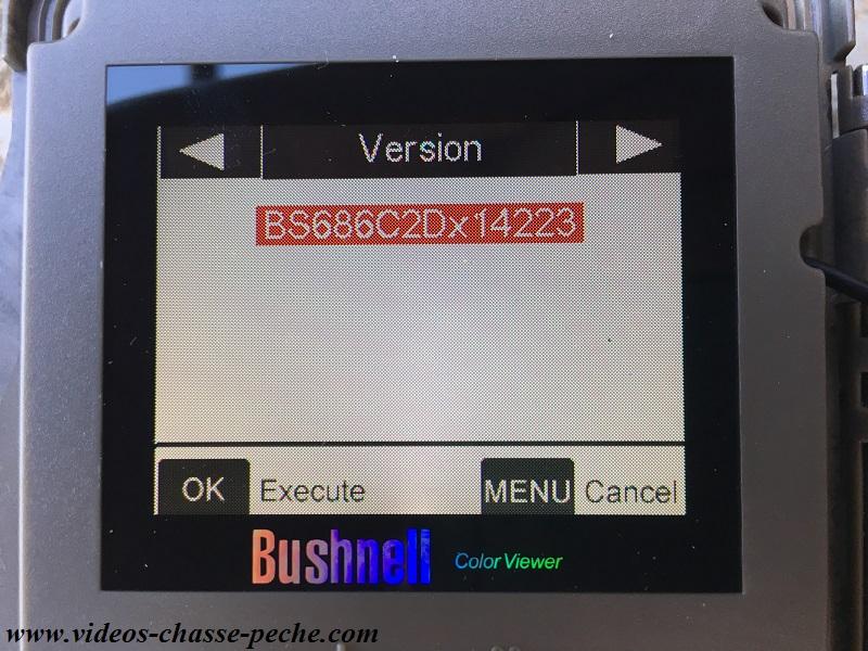 Mise à jour firmwares Bushnell 2017