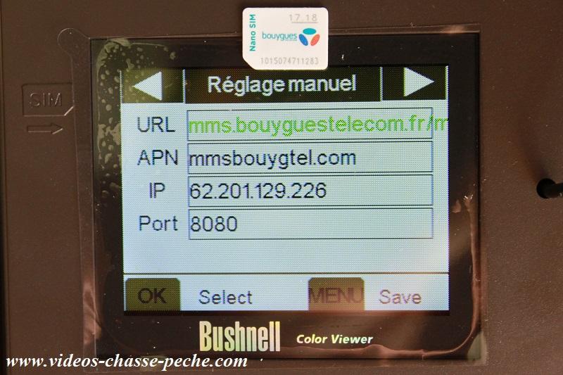 Caméra GSM réseau Bouygues
