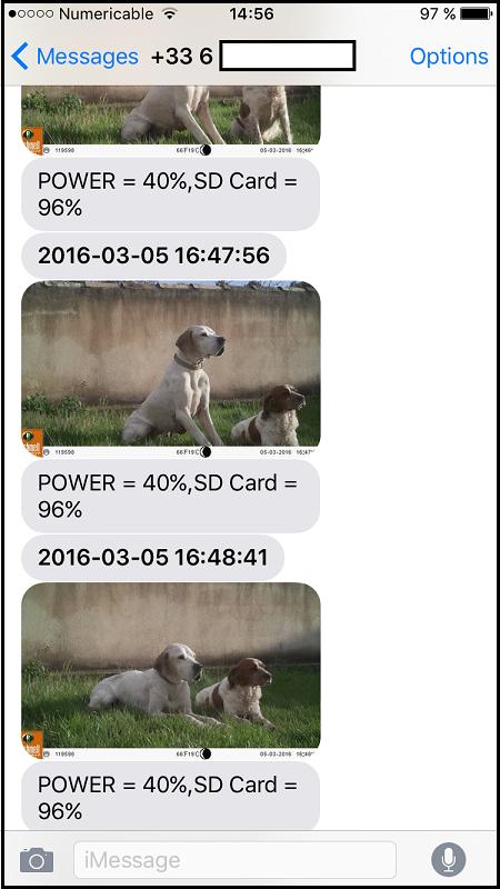 Images sur téléphone via GSM