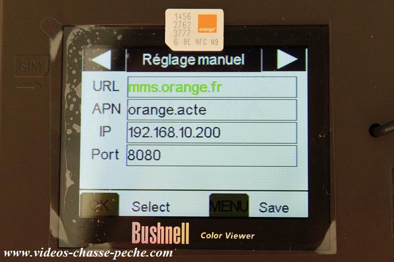 Caméra GSM réseau Orange