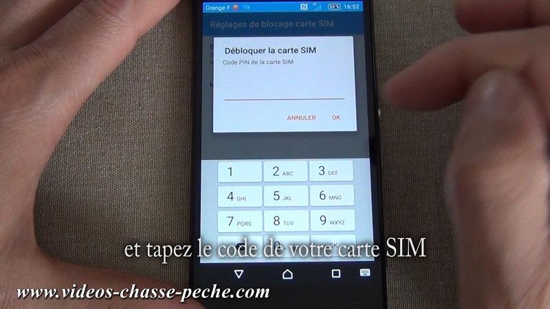 Désactiver code PIN carte SIM sous Android