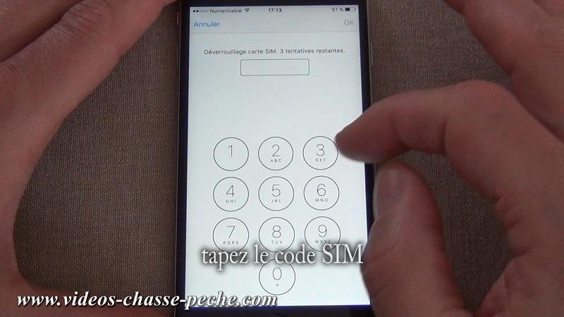 Désactiver code PIN carte SIM sous IOS