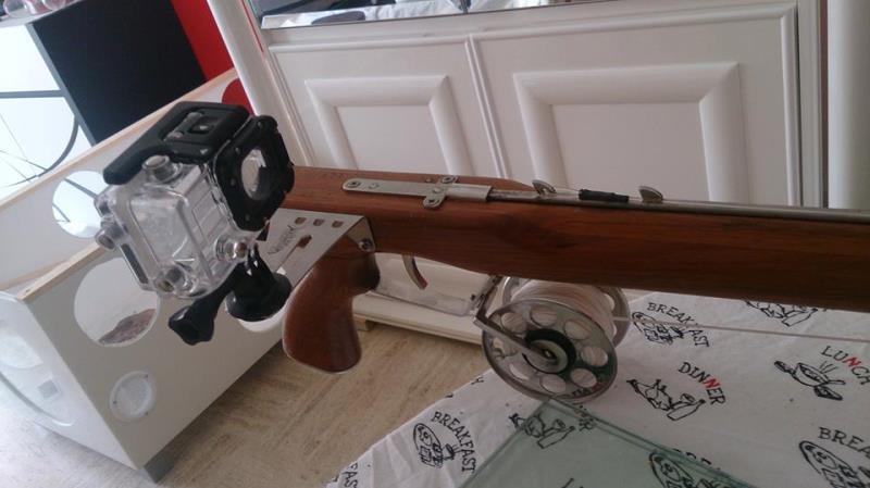 fixation gopro pour fusil harpon