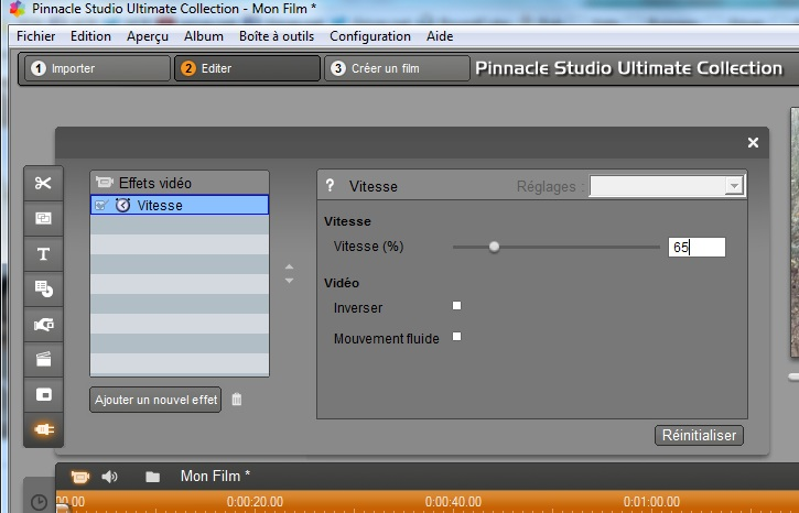 Pinnacle Studio HD V15 ralenti