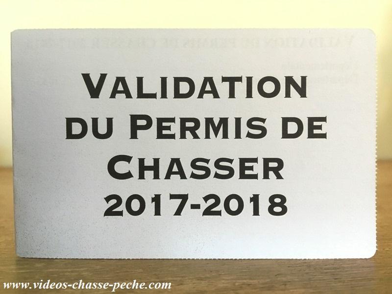 Validation permis de chasser 2017 2018