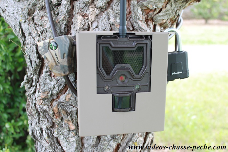 Bushnell Trophy Cam Wireless 119598 et son caisson anti vandale