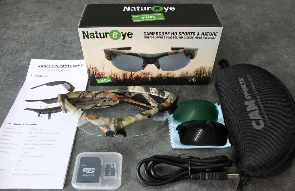 lunettes caméra HD Camsports Natureyes