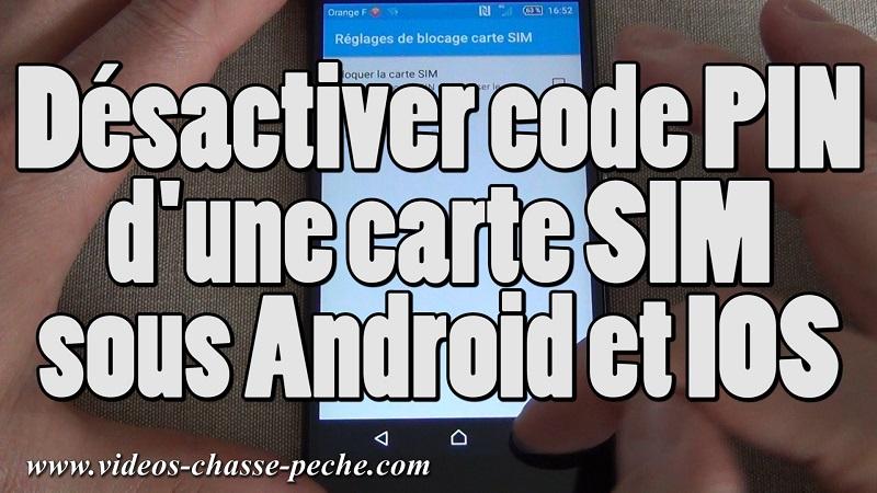 Supprimer code PIN