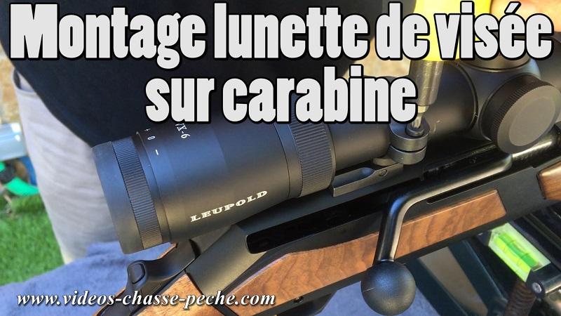 montage lunette de visée sur carabine